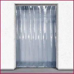 Transparent Plain PVC Strip Curtains, For Industrial, Size: 8 X 50 M
