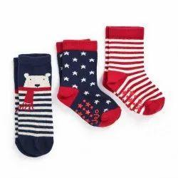 Cotton Girl & Boy Kids Designer Socks, Size: Small, Age: 1-2yr