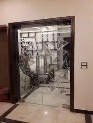 Saint Gobain Hinged Designer Toughened Glass Doors