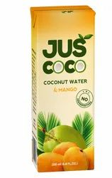 Juscoco Natural Fruit Drinks UHT Processed Mango Coconut Juice, Packaging Size: 200ml,330ml