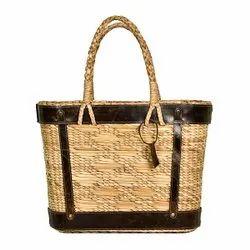 Natural Water Reed Dry Grass Handbag, Size: 11 X 13