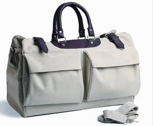Polyester 2 Pocket Beige Bag
