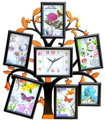 Wood & Acrylic Photo Frame Clock