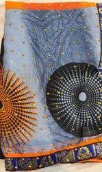 Printed Casual Wear Ladies Designer Cotton Saree, 6 m (with blouse piece)
