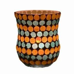 DC35042 Mosaic Glass Tealight Candle Holdar