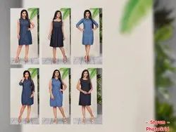 Denim Cotton Kurti