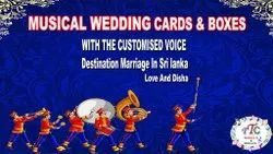 India And Sri Lanka Wedding Cards and Boxes Musical, Voice, Recordable Sound Module