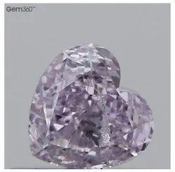 花式粉红紫色钻石心形,尺寸:4.35x4.50x2.36mm