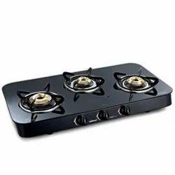Lpg Three Burner Gas Stove, For Kitchen