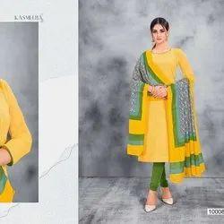 Fancy Cotton Churidar Dress Material