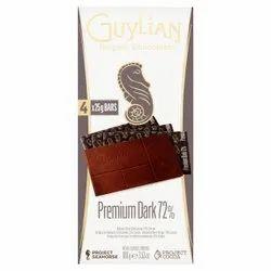 Chocolatey Guylian Premium Dark 72% Bar 100gm, Imported: Belgium