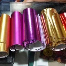 Purple Matte Colour Metallic Laminated Woven Fabric in India