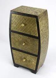 Golden Wooden Handicrafts Box, Size: 11.5x6.5x3.5 Inch