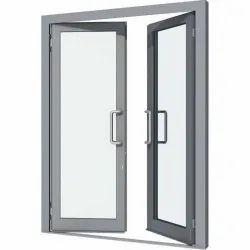 Gray Aluminium Hinged Window