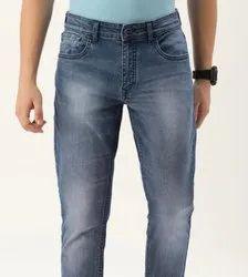 Faded Regular Fit Branded Men Denim Jeans