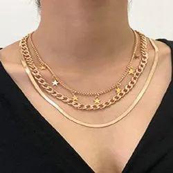 Metal Golden Necklace Chain, Standerd
