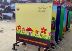 Photo + Text Printing Fixed Standees With Flex, In Delhi NCR