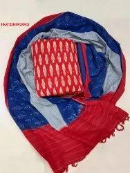Ikkat Cotton Suits Dress Material