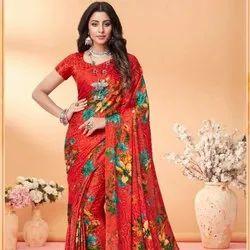 Weaving Work Rich Pallu Festive Silk Jacquard Fabric Saree-12 Pcs, With Blouse Piece, 5.5 M (Separate Blouse Piece)