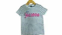 Girls Kids Striped T Shirt