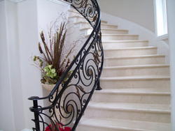 Floral Wrought Iron Staircase Railing