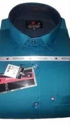 Casual Wear Plain Men Stylish Blue Shirt