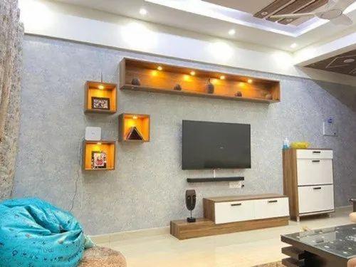 Living Room Tv Unit Furniture Television Unit Tv Console ट व य न ट Luxxus Design Studio Ranchi Id 22999702433