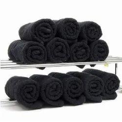 Samarth Textiles Black Plain Cotton Bath Towel, For Home, Size: 30 X 60 Inch