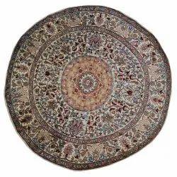 Round Silk Carpet