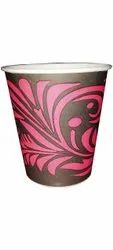 Black 200Ml Disposable Printed Paper Coffee Cup, 2mm