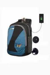 SMS Bag House Digital Bag USB Port Laptop Bag And College Bag Black