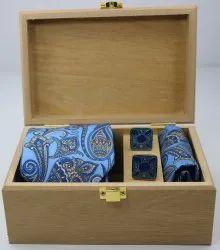 Printed Men Premium Silk Tie Gift Set, Packaging Type: Box