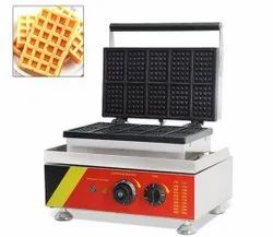 Stainless Steel Square Waffle Maker, For Industrial, Capacity: 100 Pcs Per Hour