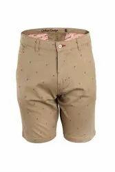 Printed Design Khaki Shorts