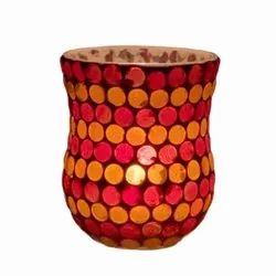 DC35044 Mosaic Glass Tealight Candle Holdar