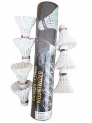 Nylon White Badminton Feather Shuttlecock, Packaging Size: 7 Piece