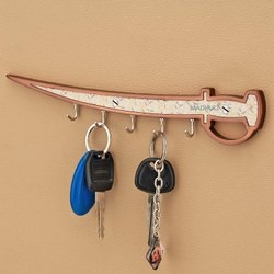 Copper Finish Premium Sword Style Key Stand Key Holder For Any Property-10