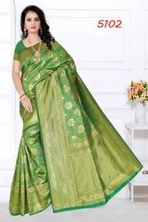 Festive Wear Printed Ladies Fashionable Silk Saree, 6 m (with blouse piece)