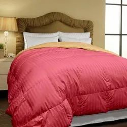 Micro Stripe Dyed Red Bed Comforter