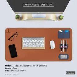 brown plain Office Desk Mat, 1