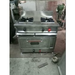 Stainless Steel Double Burner Gas Range