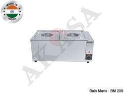 Akasa Indian Electric Bain Marie 2 Container Table Top