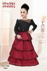 Glitter Rani Kids Party Wear Designer Gown, 6-10