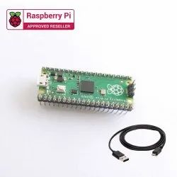 Raspberry Pi Pico with Headers and Micro USB Cable