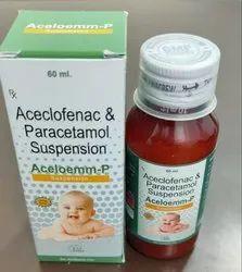 Aceclofenac 50mg + Paracetamol  125 mg  Suspension