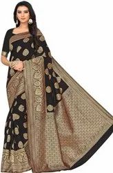 Party Wear Self Design Fashion Jacquard Saree, 6 m (with blouse piece)