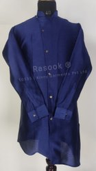Navy Blue Sidecut Kurta Pajama