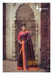 Lt Fashion Aurika Cotton Silk With Pum Pum Border Casual Wear Saree