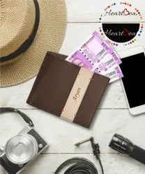 PU Leather Brown Personalized Men's Wallet