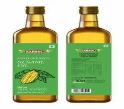 Cold Pressed Sesame Oil, Packaging Size: 500 Ml